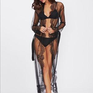 Other - Black mesh lace sexy robe